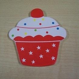 Cupcake Magneet Rood