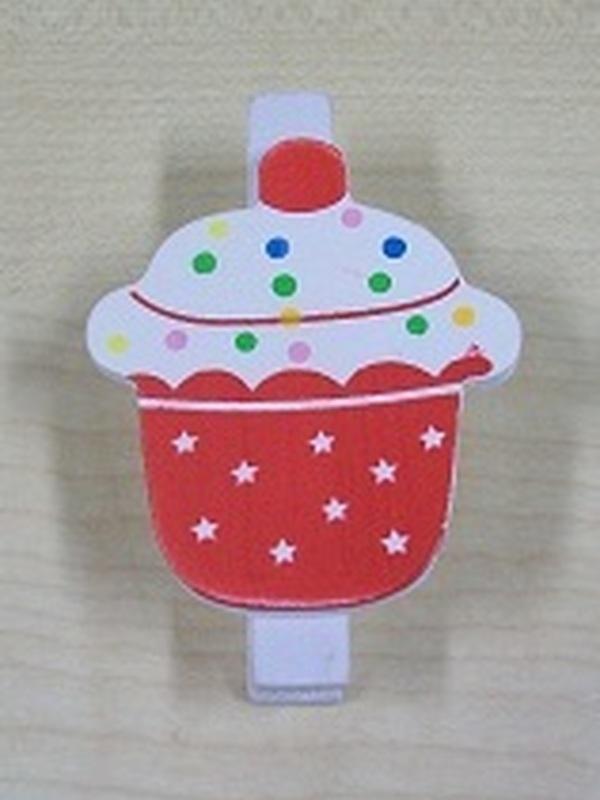 Cupcake Knijper Rood
