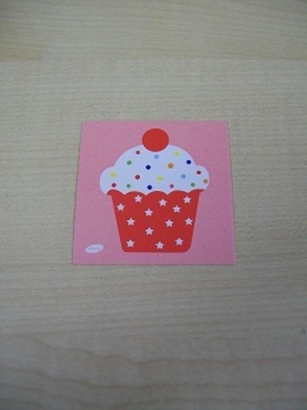 Naamkaartje Cupcakes Rood