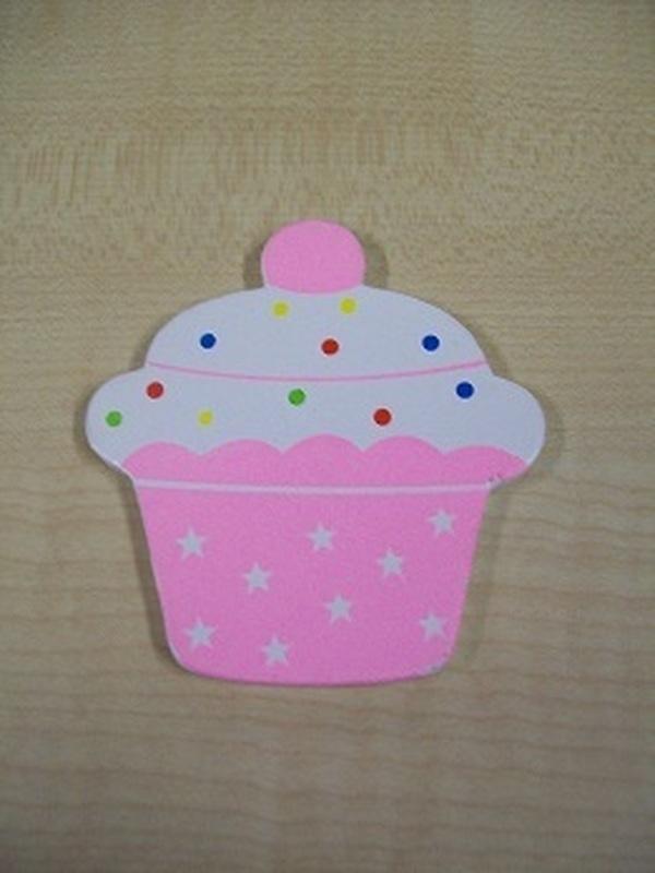 Cupcake Magneet Licht Roze