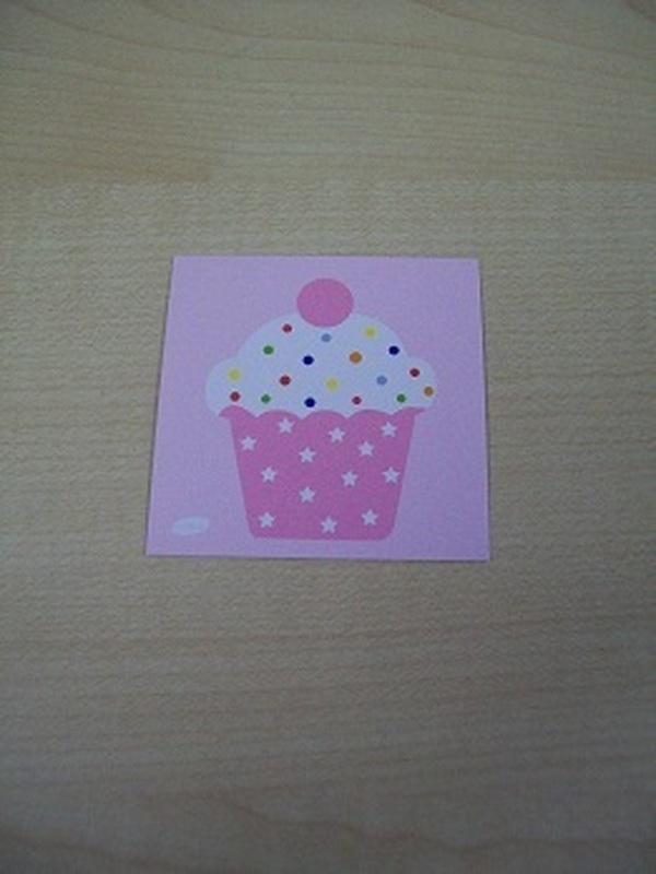 Naamkaartje Cupcakes licht Roze