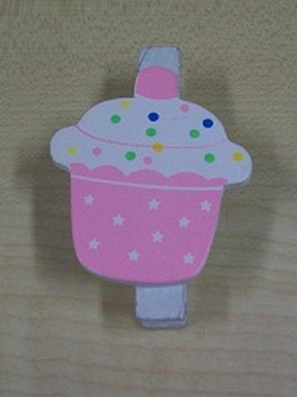 Cupcake Knijper Licht Roze