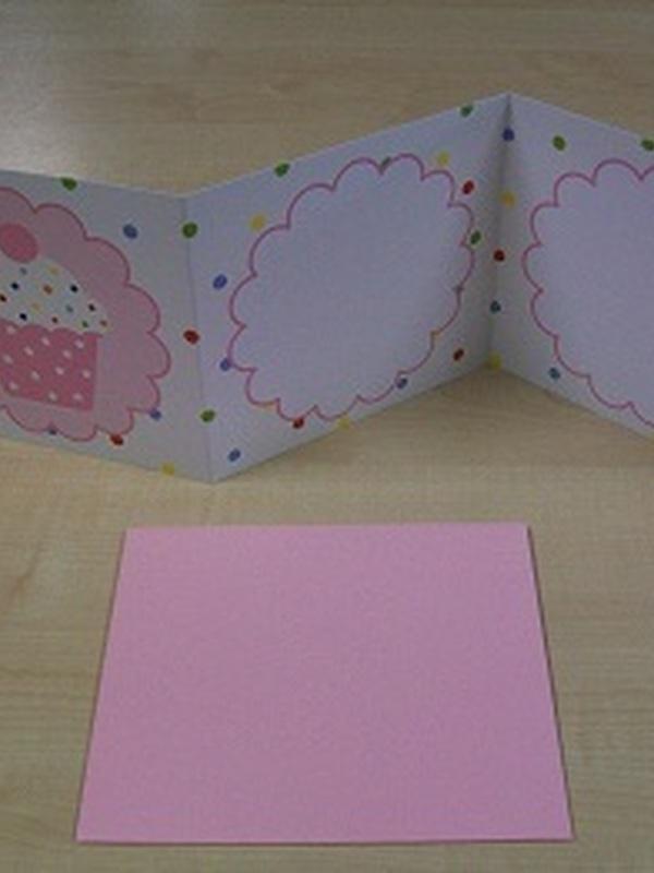 Geboortekaartje Cupcake Licht Roos