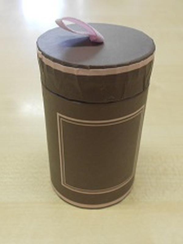 Cilinder Taupe + Roze kader