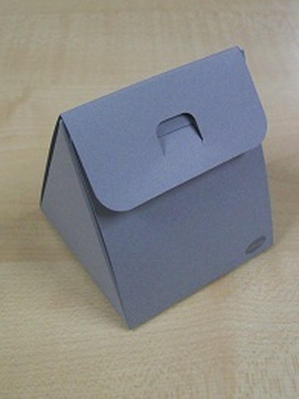 Karton Driehoekig Doosje grijs