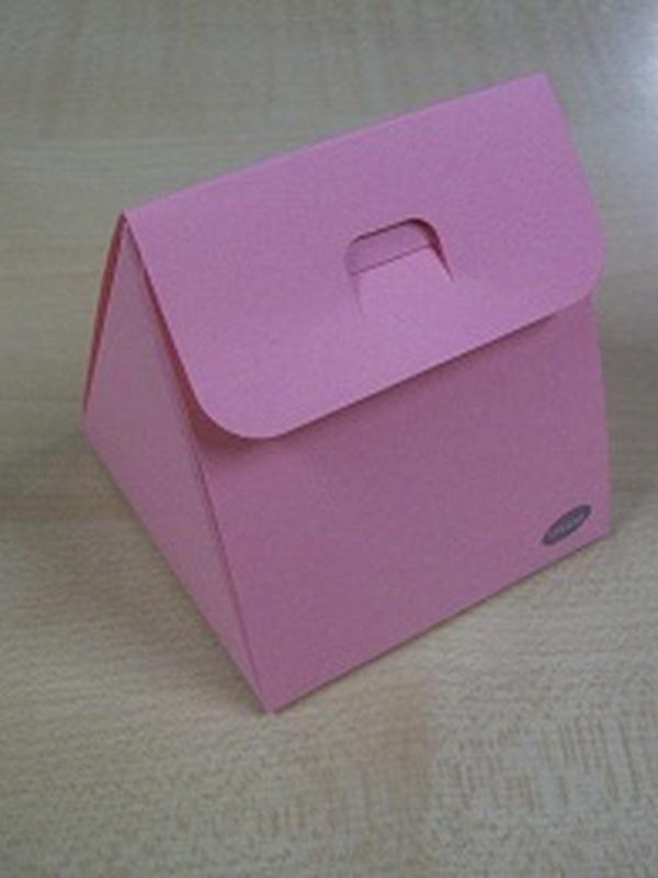 Karton Driehoekig Doosje Licht Roos