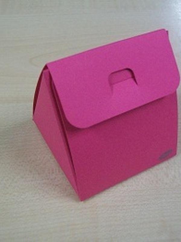 Karton Driehoekig Doosje Fuxia