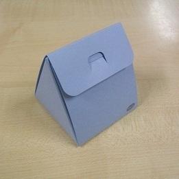 Karton Driehoekig Doosje Licht Blauw