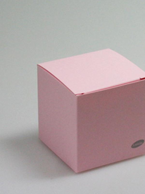 Karton Kubus Licht Roos