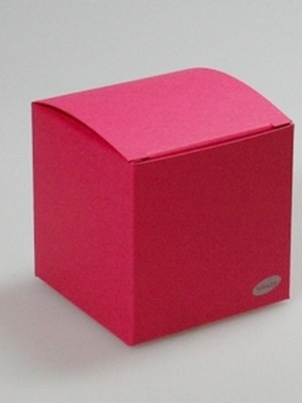 Karton Kubus Koraal Rood