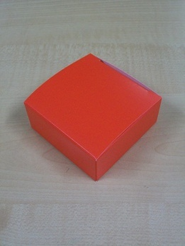 Karton Laag Vierkant Doosje Rood