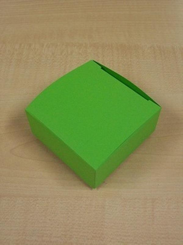 Karton Laag Vierkant Doosje Groen
