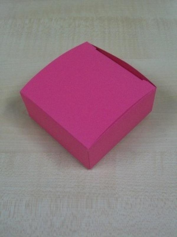 Karton Laag Vierkant Doosje Fuxia