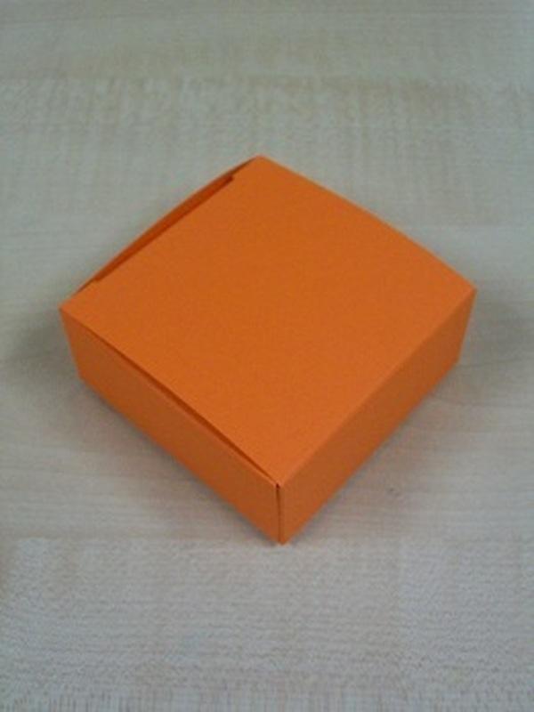Karton Laag Vierkant Doosje Oranje