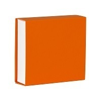 Vierkant Schuifdoosje oranje 728.005