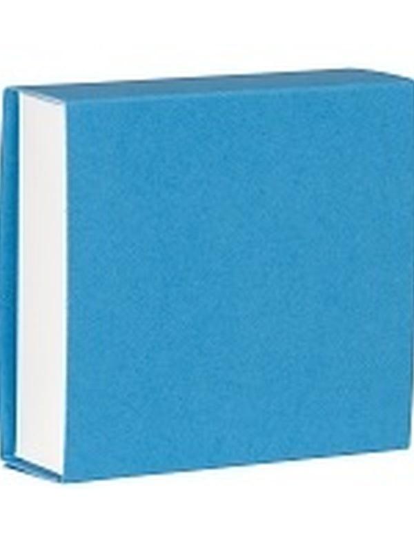 Vierkant Schuifdoosje Azuurblauw-Wit 721.017