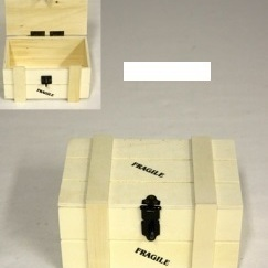 Fragile kist 500g naturel H 8,5x L 11 x B 16,5cm
