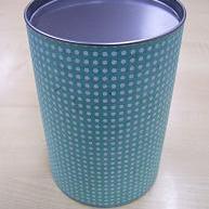 Dekseldoos 1kg Blauw met Witte Stippen