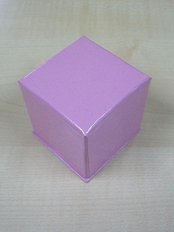 Cocoon Doosje Kubus Roze 5 cm