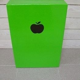Groen Glanzend Doosje met Appel Groot