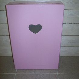 Glossy Hartje Roze Groot