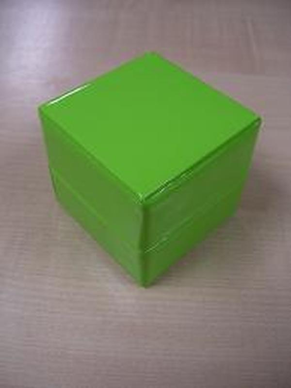 Glossy Doosje Kubus Groen