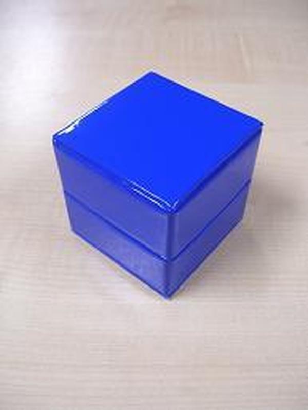 Glossy Doosje Kubus Koningsblauw