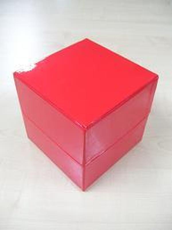 Glossy Kubus Groot Rood