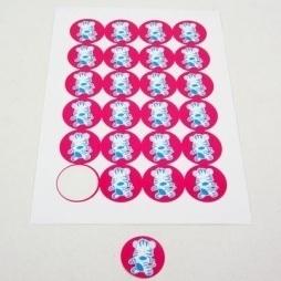 Zebra Punda Stickers Fuxia 24 stuks