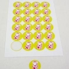 Zebra Punda Stickers Lemon 24 stuks