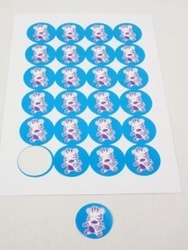 Zebra Punda Stickers Turkoois 24 stuks