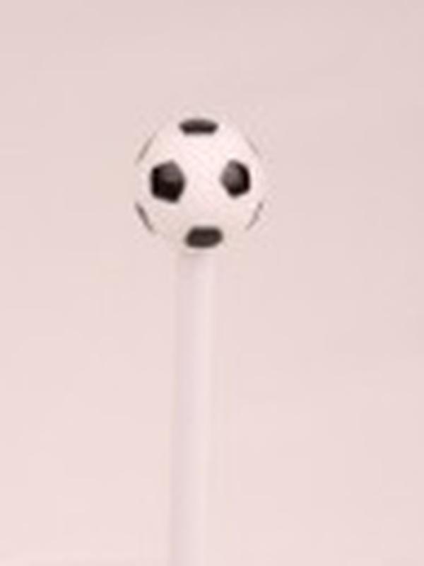 Voetbal potlood wit-zwart