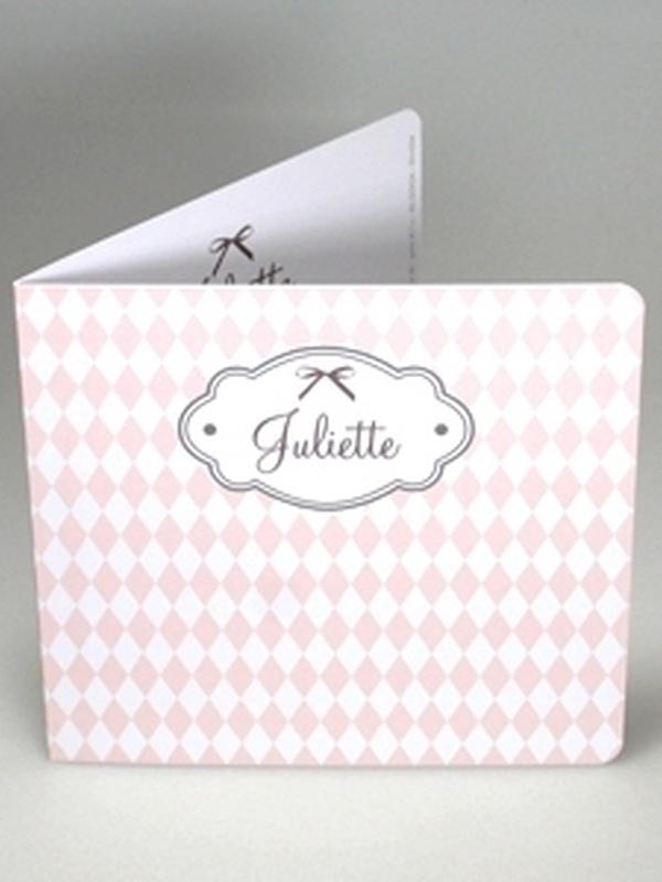 Geboortekaartje Zalm Geruit Juliette