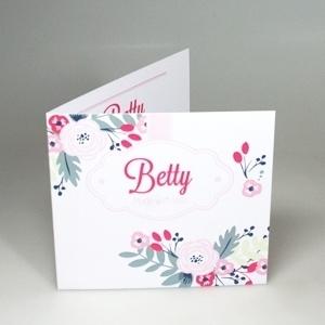 Geboortekaartje Blush Bloem Betty