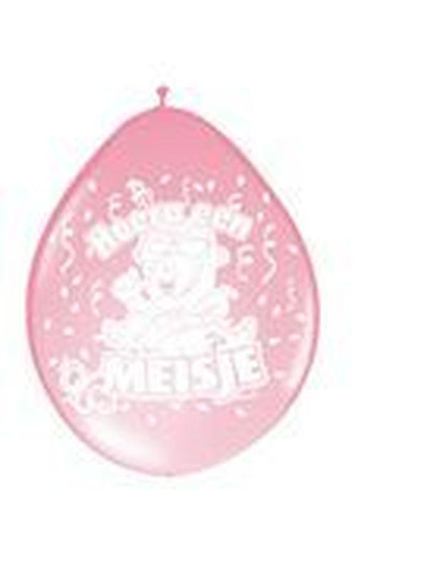 Ballons 8 stuks Hoera een meisje