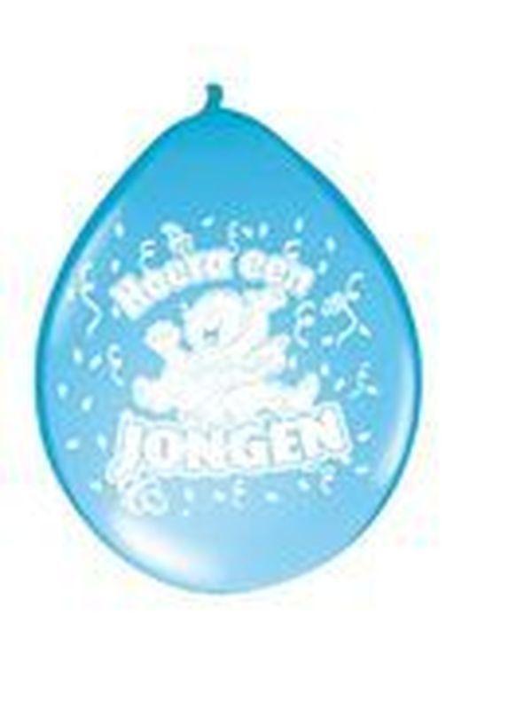 Ballons 8 stuks Hoera een jongen