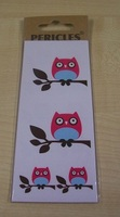 Uil Fuxia Stickers Set 32 Kleine + 2 Grote