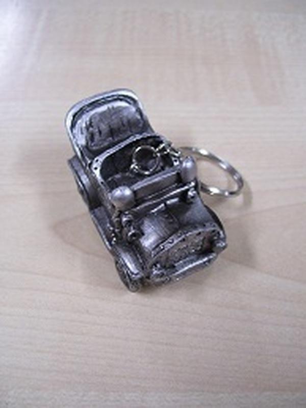 Auto Sleutelhanger Grijs