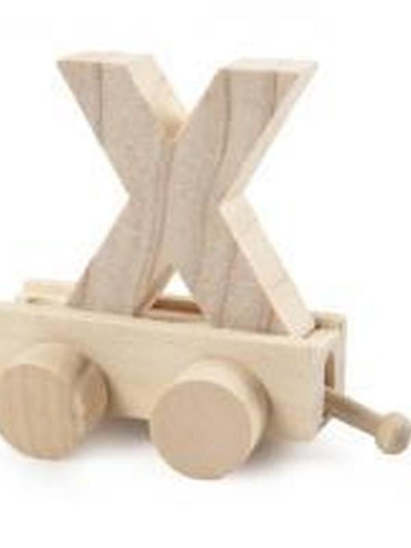 Treinletter Hout X