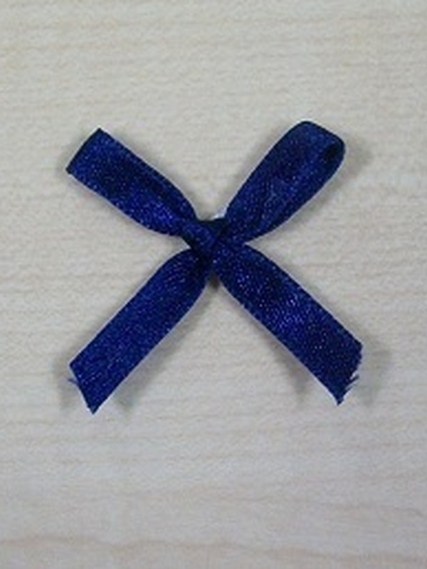 Strikje Zelfklevend Satijn Marine Blauw