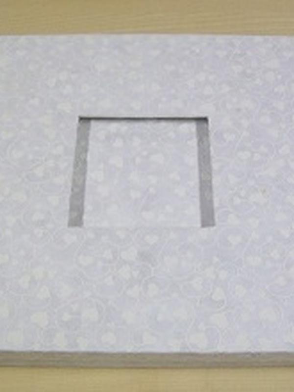 Gastenboek Vierkant 27 x 27 cm eru hartjes in doos