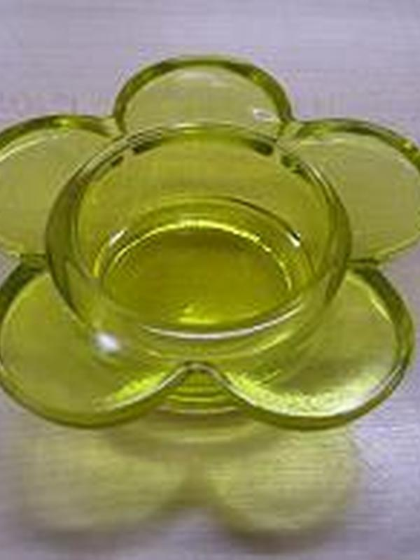 Theelicht Bloem Glas Groen
