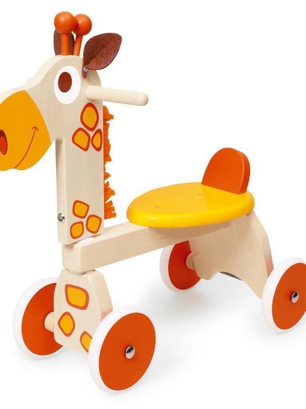 Loopfiets Giraf in beukenhout