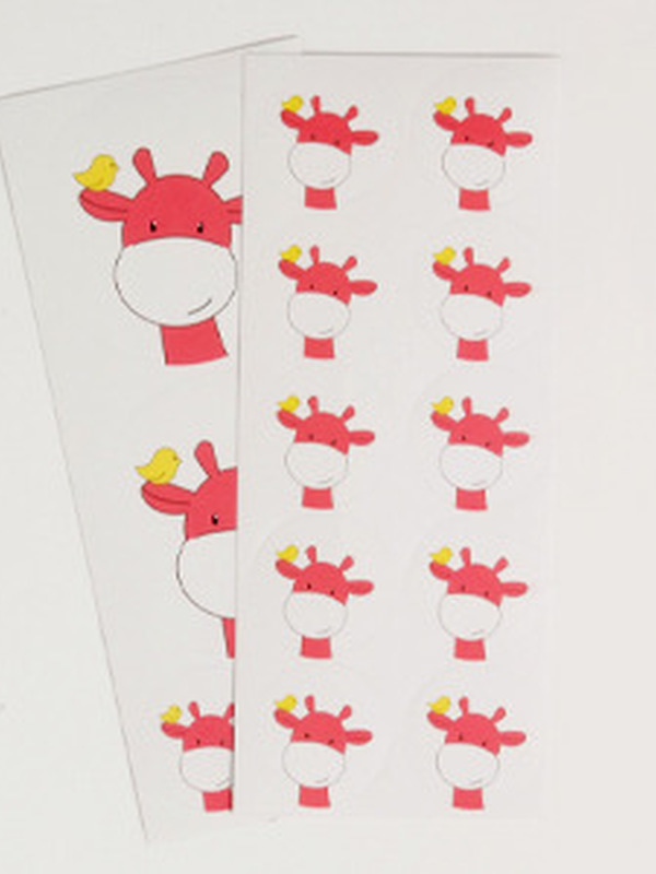 Giraf Koraal Sticker Set 34 stuks