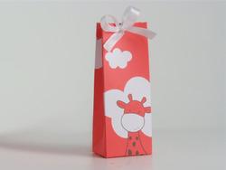 Karton Hoog Doosje Giraf Koraal