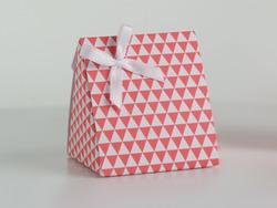 Karton Driehoek met Driehoekpatroon Koraal