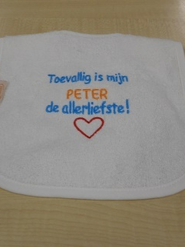 Slabbetje Peter de allerliefste