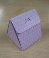 Karton Driehoek met Driehoekpatroon Roos