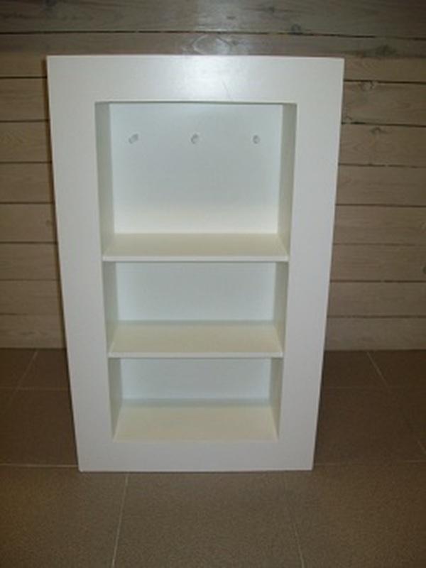 Openkast Wit met 2 plankjes en hangers