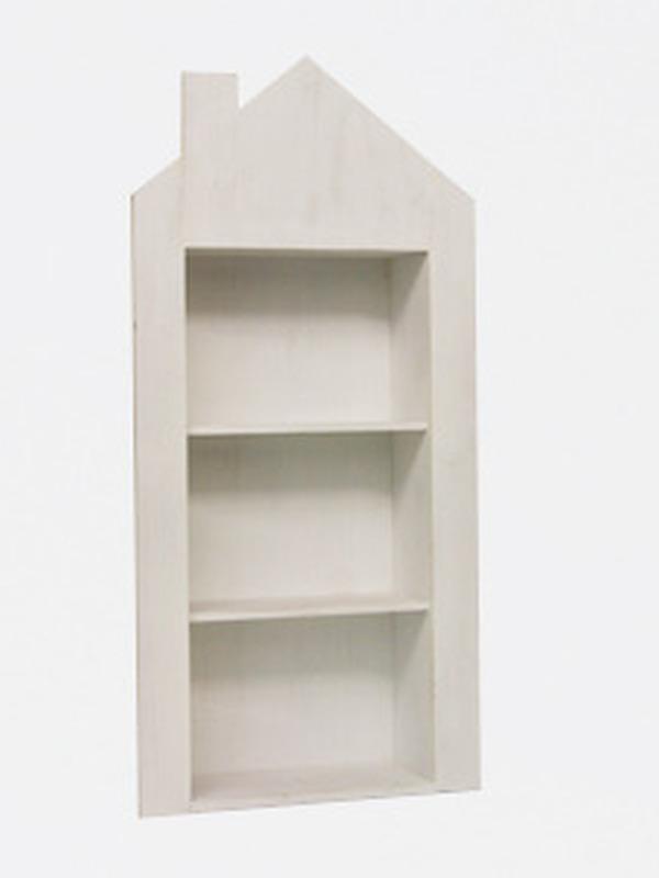 Openkast Wit met 2 plankjes en schouw